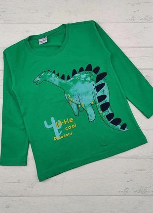 Реглан кофта для мальчика тонкий дракон зеленый турция