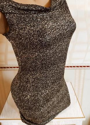 Нарядное блестящее стрейчевое платье,идеально на новый год