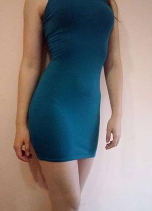 Изумрудное платье от river island