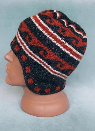 Шерстяная вязаня шапка alpaca альпака