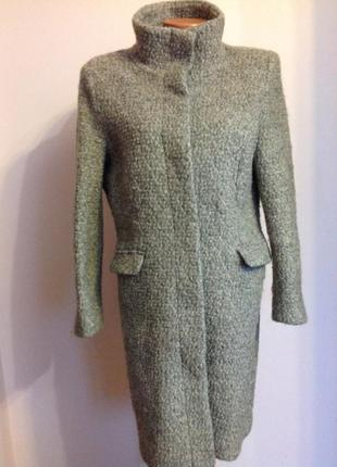 Тёплое буклированное пальто/l- xl/ brend h& m