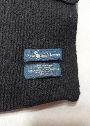 Polo ralph lauren шерстяной теплый мужской  шарф.