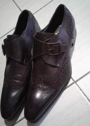 Стильные кожаные туфли 44 размер