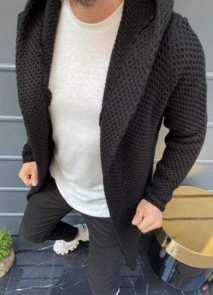 Мантия мужская черного цвета с капюшоном