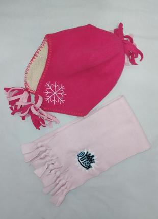 Комплект шапка и шарф флис/утеплитель