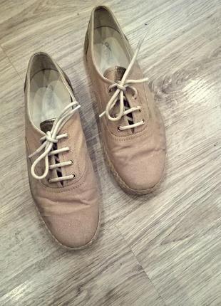 Туфли geox на низкой платформе