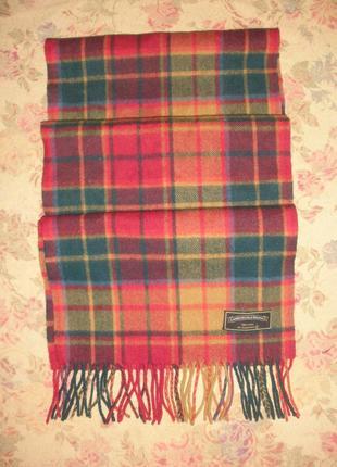 Отличный теплый качественной шерсти шарф унисекс от бренда james pringle weavers