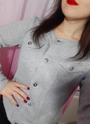 Кофта пиджак блестящий