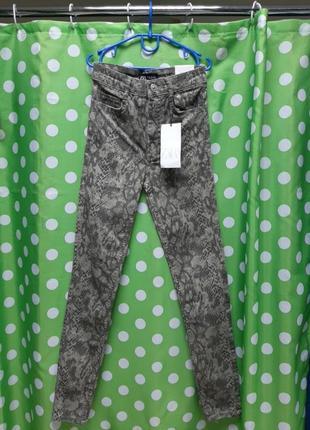 Красивие брюки котон под джинс в модний принт.
