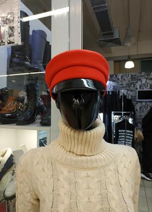 Кепка из шерсти с лаковым козырьком, модные женские кепки, фуражки, кепка, кепи