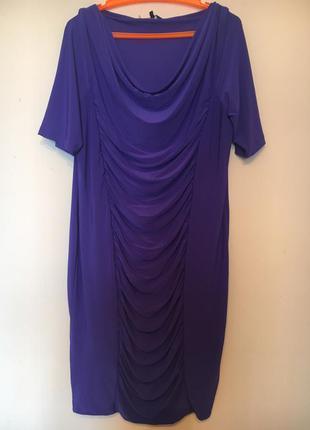 Нарядное платье с драпировкой.