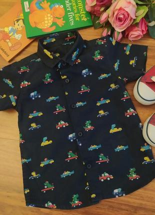 Модная хлопковая рубашка st.bernard на 1,5-2 года.
