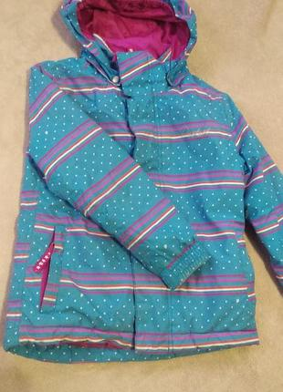 Голуба куртка для дівчинки