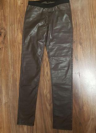 Лосины штаны кожзам