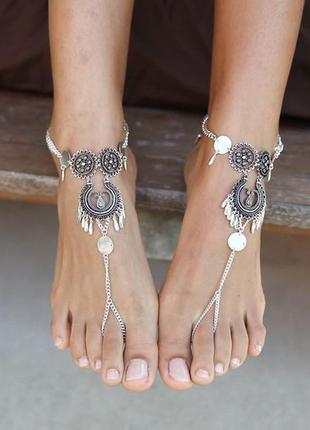 Роскошный браслет на ногу из индии. в стиле boho 1 шт(85грн) или  комплект-2 шт(170грн)
