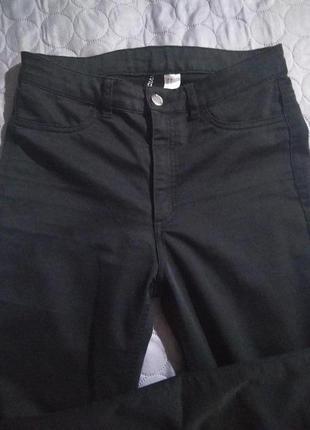 Брюки джинсы повседневной базовые ,высокая посадка 👍 - m