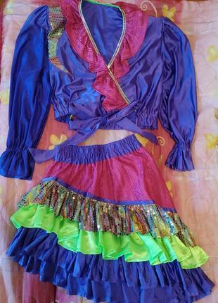 Женский карнавальный костюм/ цыганский/ испанский/ латина