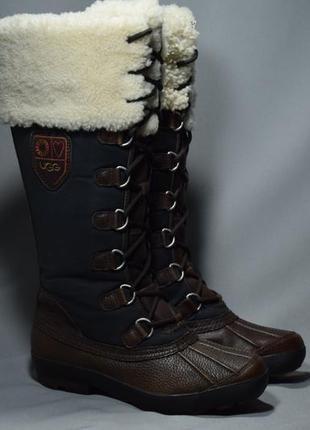 Ugg australia edmonton waterproof сапоги ботинки зимние овчина цигейка оригинал 38р/24.5см