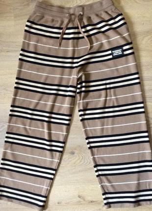 Свободные шерстяные штаны от известного бренда burberry оригинал р м (l)