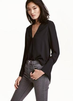 Актуальная базовая блузка с отложным воротником