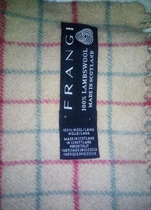 Шотландский шерстяной шарф в клетку