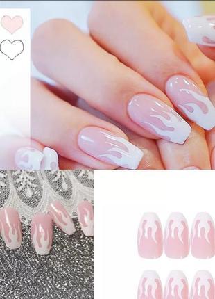 Накладные ногти с клеем 24 шт