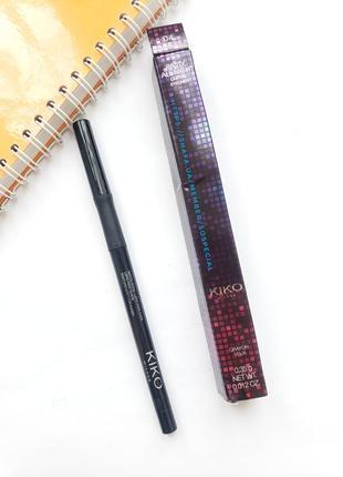 Стойкий карандаш для глаз с перламутровым финишем kiko party all night lasting eyeliner 04