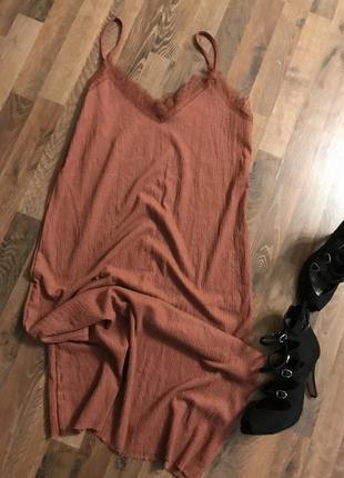 Платье миди. платье комбинация primark большой размер