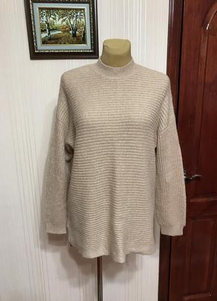 Уютный свитер с шерстью альпаки