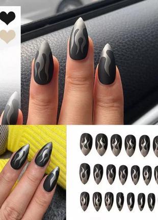 Набор накладных ногтей с клеем 24 шт
