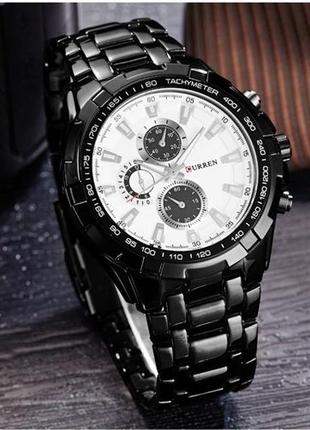 Черные металлические мужские часы