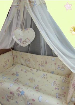 Балдахин с держателем в детскую кроватку