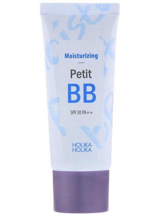 Bb тональный крем для лица holika holika, moisturizing petit bb, spf 30, (30 ml)