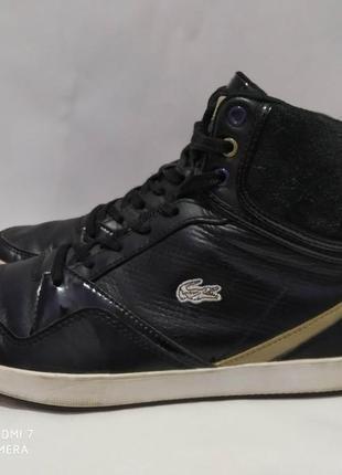 Кожаные кроссовки, кеды,ботинки lacoste