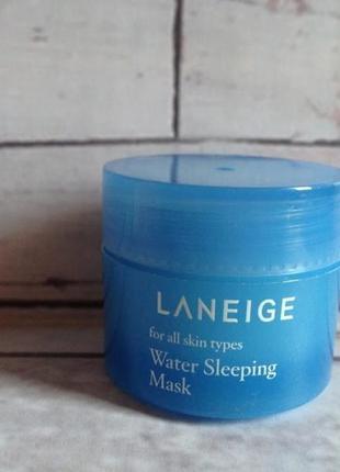 Маска water sleeping mask, laneig, ночная с керамидами увлажняющая омолаживающая, 15 мл