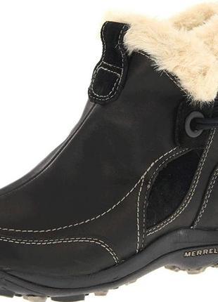 Зимние кожаные теплые ботинки primaloft waterproof
