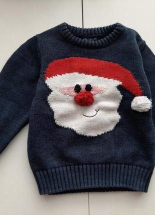 Новогодний свитер некст на 2-3года 98см