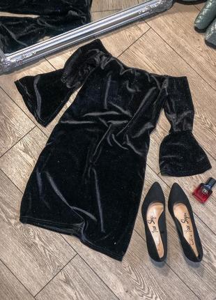 Короткое блестящее платье