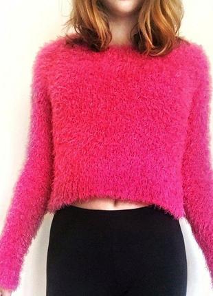 Укороченный пушистый свитер divided