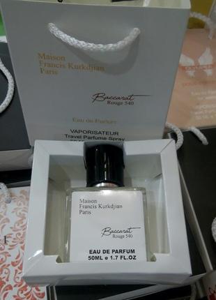 Baccarat rouge 540 женский  парфюм в подарочной упаковке 50мл