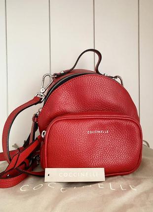 Шкіряний рюкзачок італійського бренду