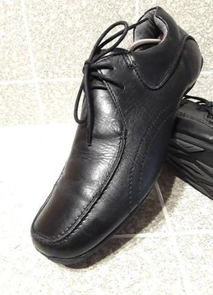 Мужские кожаные туфли макасины комфорт