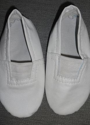 Белоснежные белые чешки на девочку мальчика 26 27 р. стелька 16см