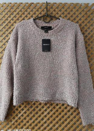 Красивый укороченный свитер с люрексом