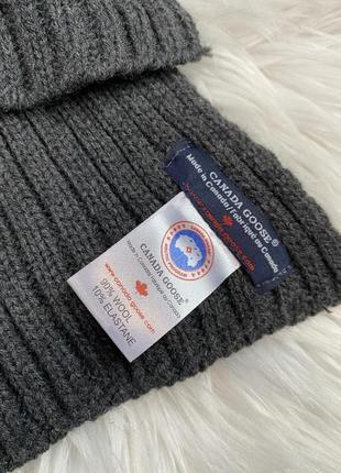 Мужской зимний шерстяной шарф canada goose шарфик