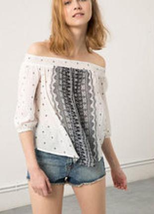Блуза со спущенными плечами, s-m