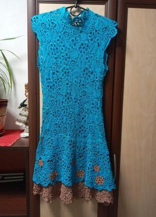 Платье вязаное ручная работа