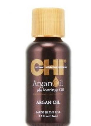 Восстанавливающее масло для волос chi argan oil plus moringa oil, 15 мл