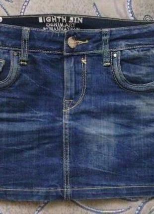 Джинсовая юбка джинсова спідниця eight sin италия