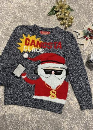 🎄новогодний свитер,джемпер,реглан,свитшот на мальчика 7-8лет
